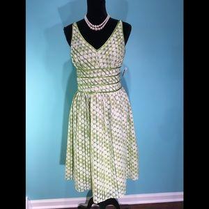 🆕Robbie Bee Petite Green Print Dress Size 12P